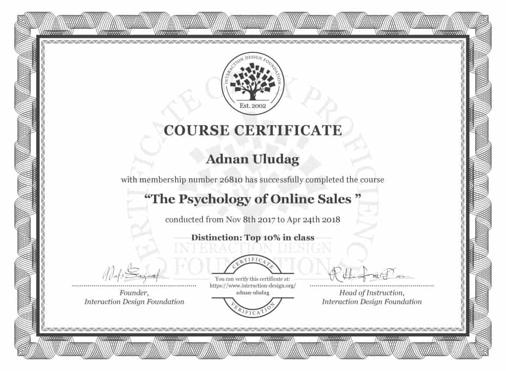 Psychology of Online Sales Certificate
